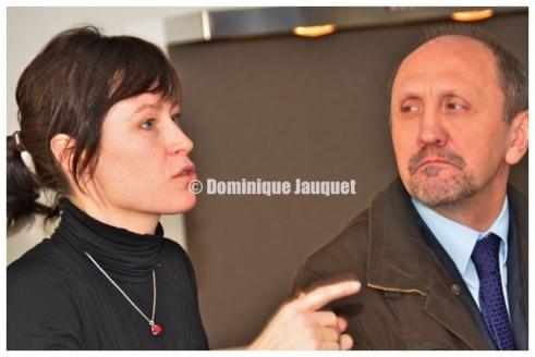 Freya Vandenbossche en Johan Vande Lanotte.