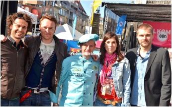 Thomas Vanderveken, Ben Roelants, Saartje Vandendriessche, en Kobe Ilsen.