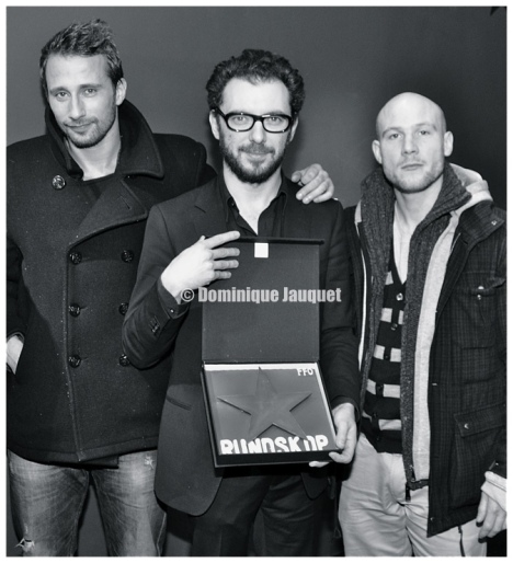 Matthias Schoenaerts, Michaël R. Roskam, en Jeroen Perceval.