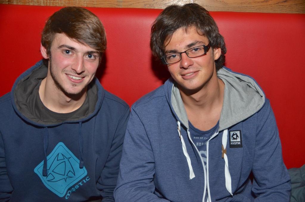 Axel en Christophe Tack in de Copador in maart 2013. 'Ooit wil ik wereldkampioen worden', zei Christophe Toen.