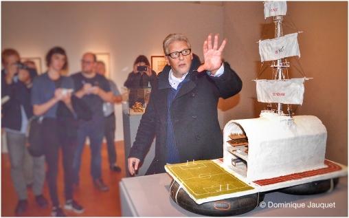 Het Vlot, met curator Jan Fabre.
