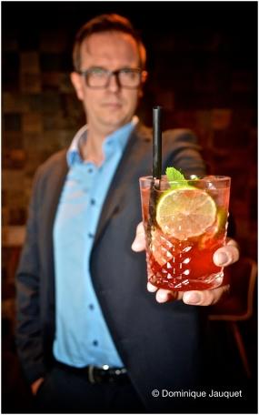Bram Lemmens, cocktailspecialist.